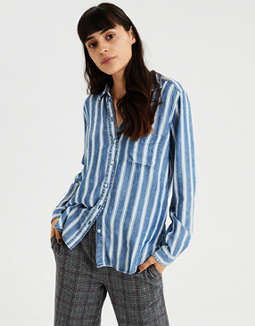 AE Striped Button Down Shirt