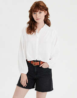 AE Lace Button Down Shirt
