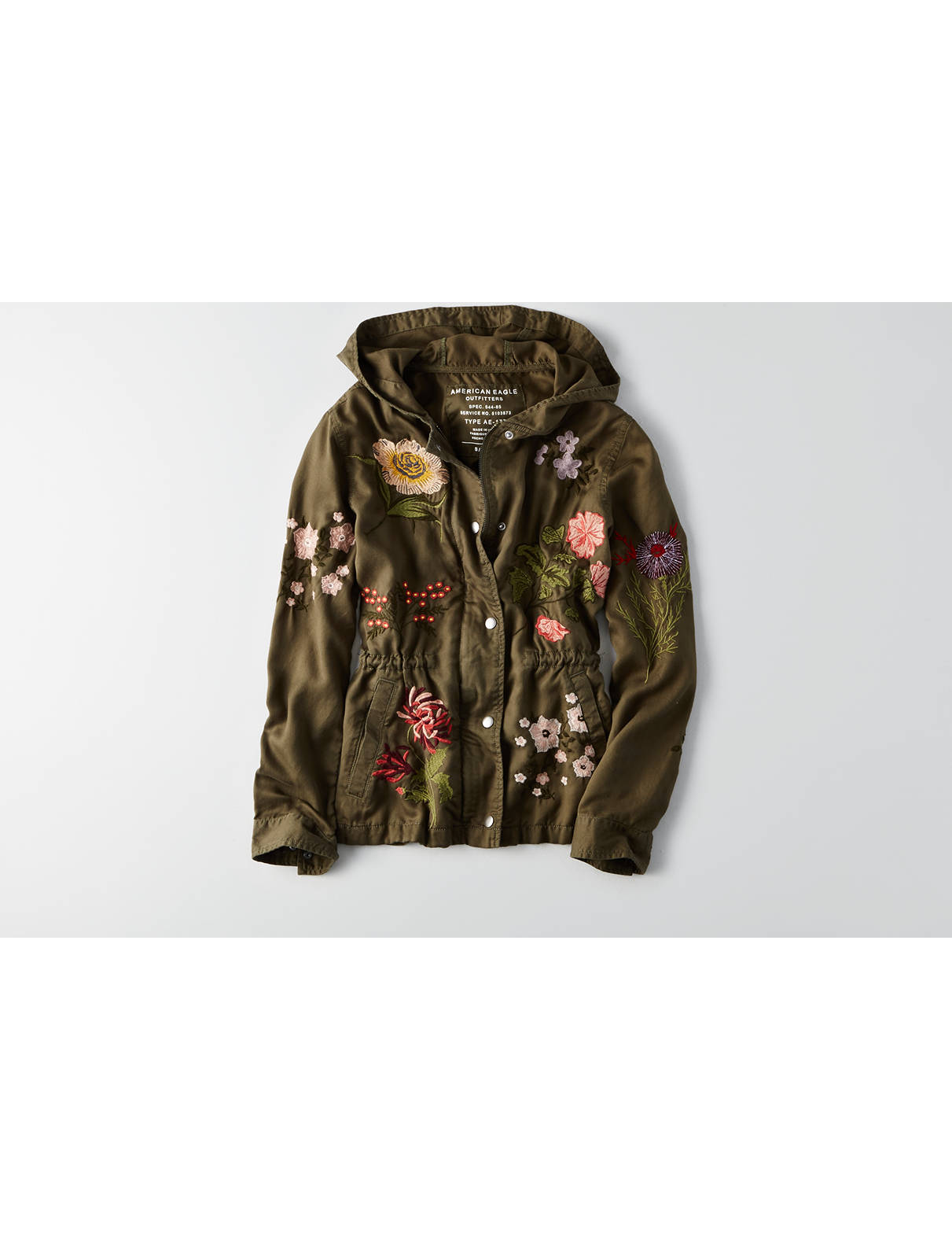 Display product reviews for AEO Embroidered Anorak Jacket