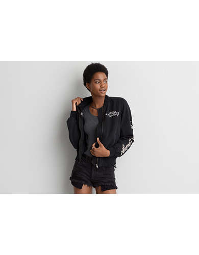 AE Silver Linings Bomber Jacket
