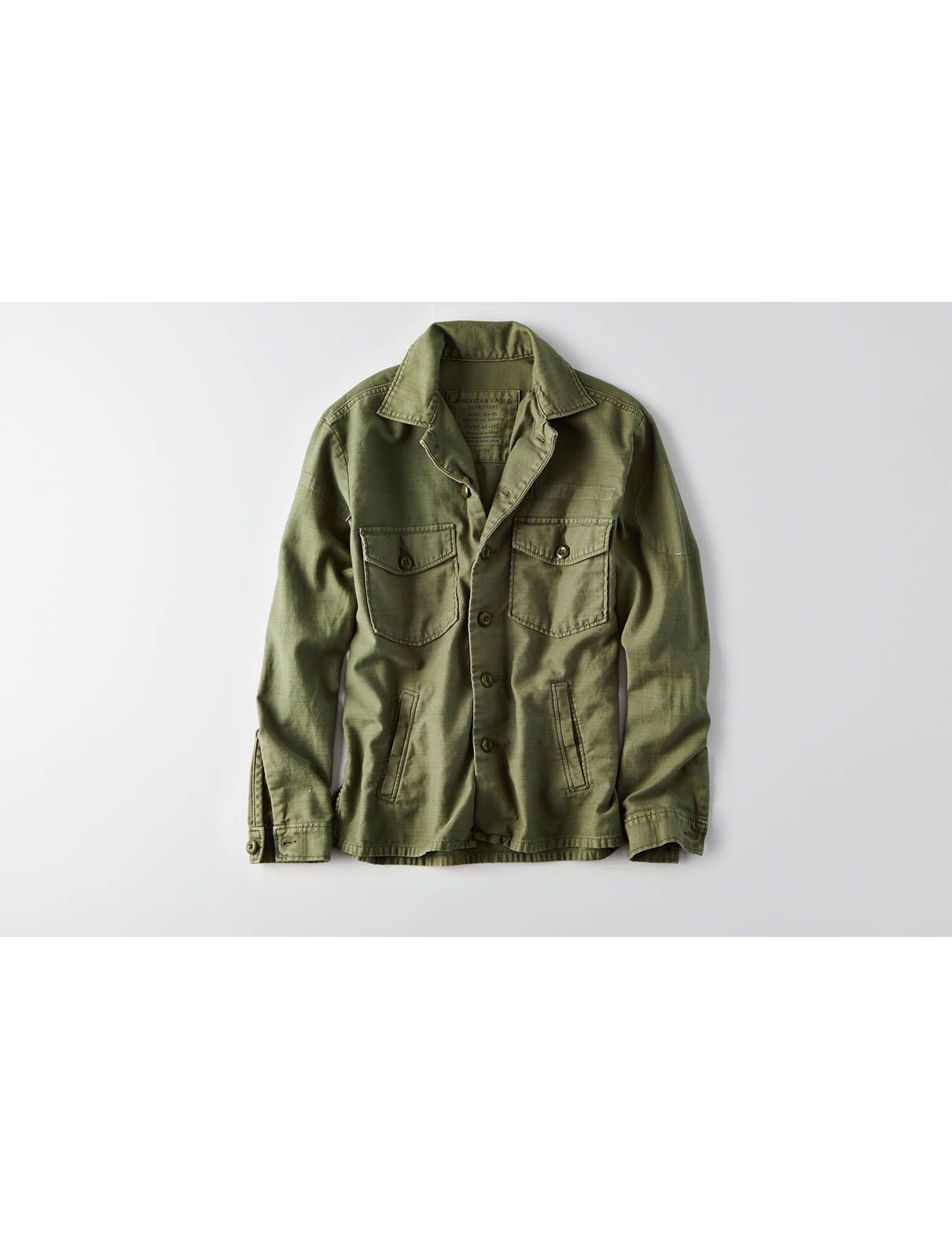 Display product reviews for AEO Oversized Military Shirt Jacket