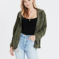 Deals on AE Womens Hooded Military Jacket