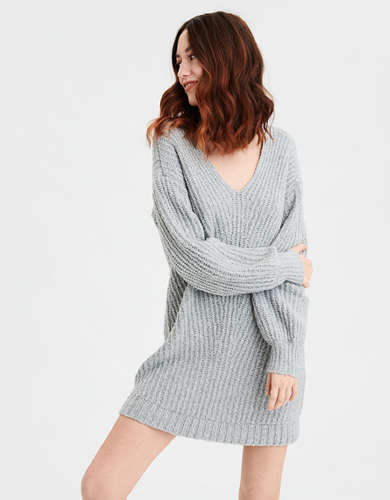 AE V-Neck Sweater Dress