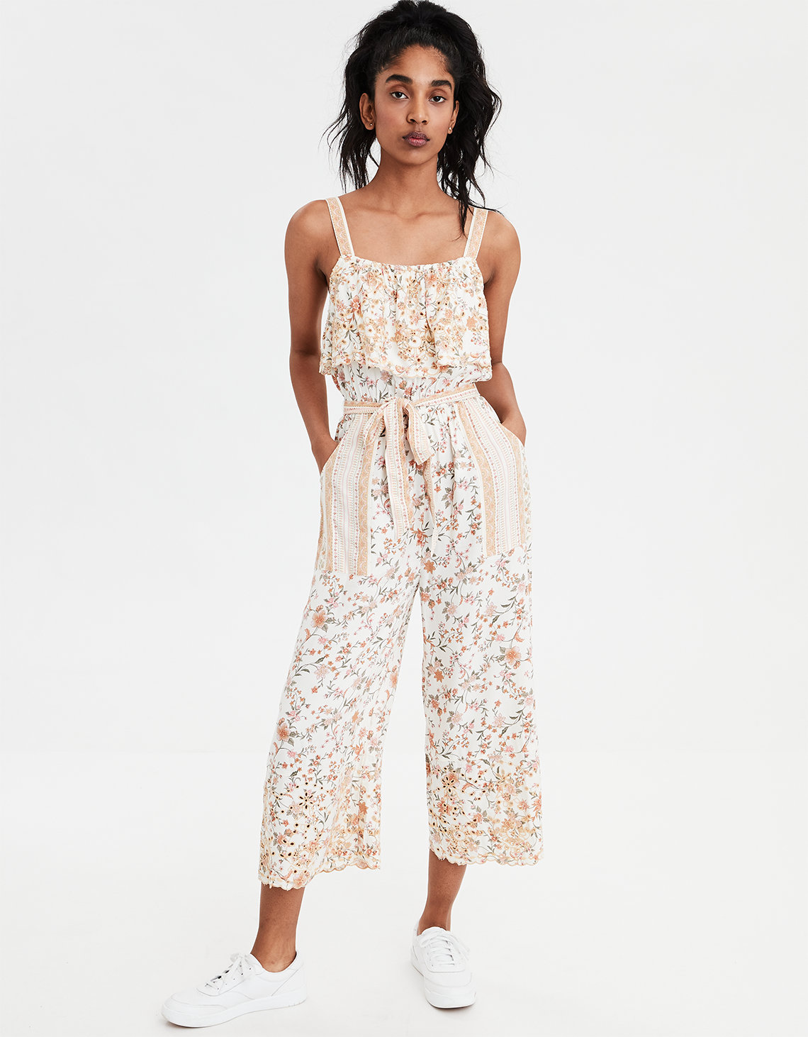 3000aac1ab32 AE Overlay Schifflie Jumpsuit. Placeholder image. Product Image