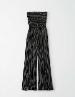 Ae Knit Striped Tube Jumpsuit by American Eagle Outfitters