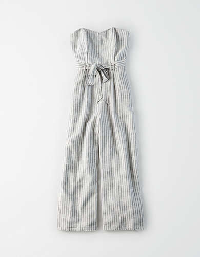 AE Striped Tapered Jumpsuit