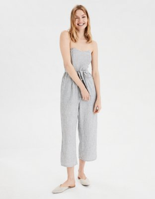 Ae Striped Tapered Jumpsuit by American Eagle Outfitters