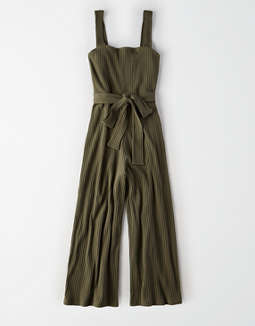 AE Knit Button Up Jumpsuit