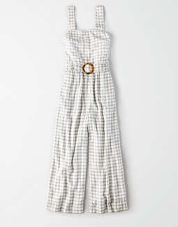 Ae Plaid Jumpsuit by American Eagle Outfitters