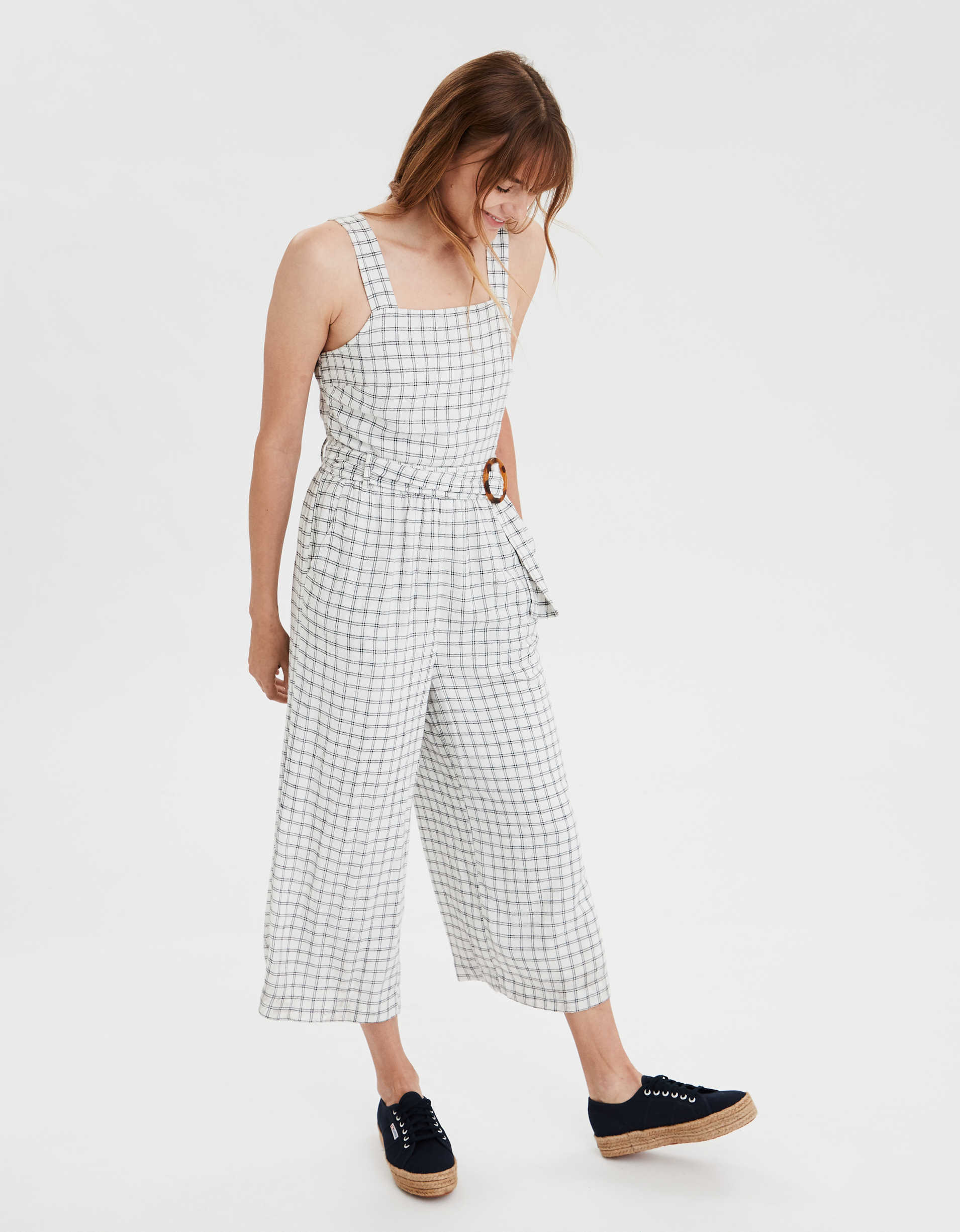 AE Plaid Jumpsuit