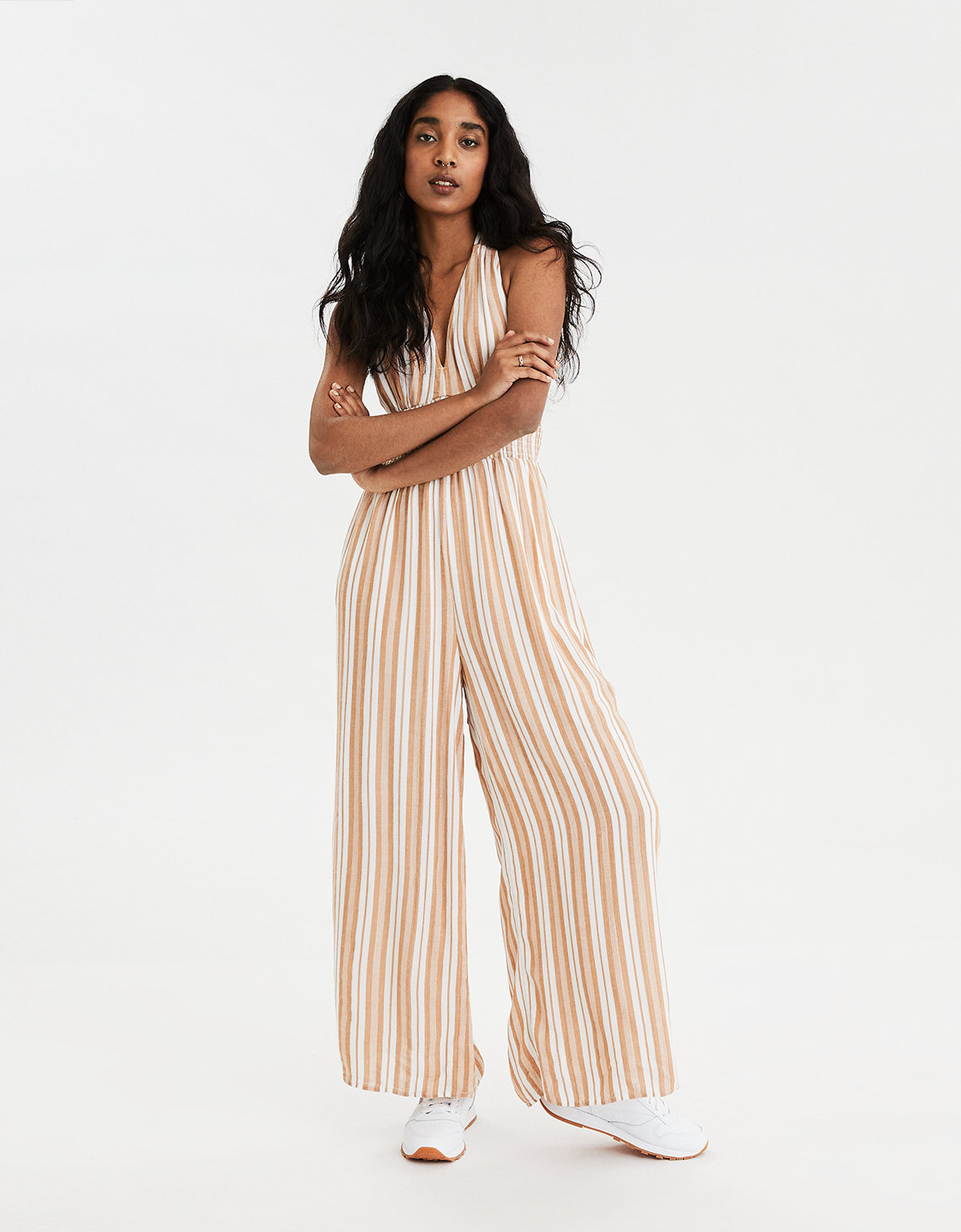AE Striped Halter Jumpsuit