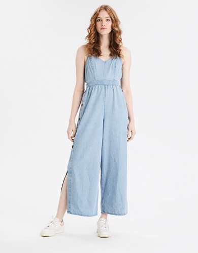 AE Denim Tie Back Jumpsuit