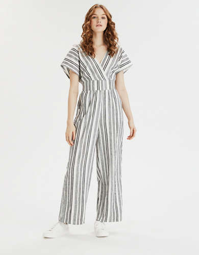 AE Short Sleeve Surplice Jumpsuit