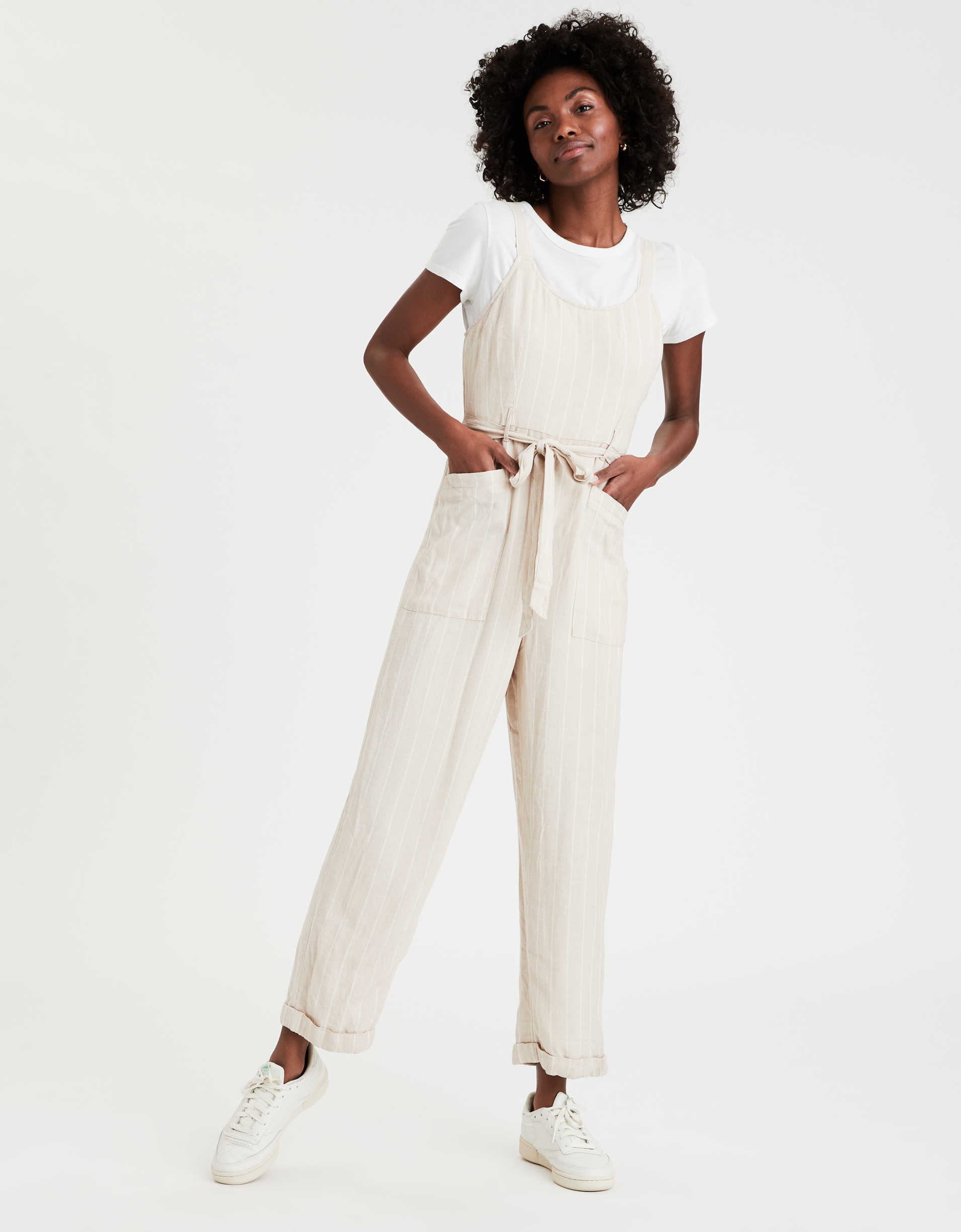AE Striped Layerable Jumpsuit