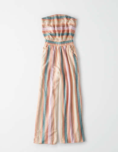 AE Striped Tube Jumpsuit
