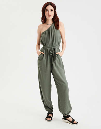 AE One Shoulder Jogger Jumpsuit
