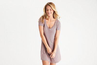 Strappy-Back T-Shirt Dress