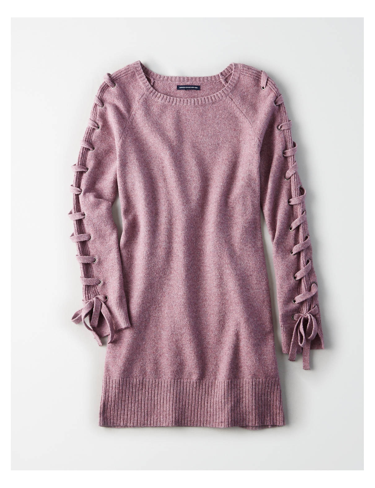 AE Ahh-Mazingly Soft Lace-Up-Sleeve Sweater Dress