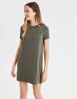 Ae Knit Swing T Shirt Dress by American Eagle Outfitters