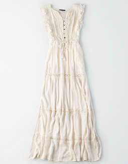 Ae Lace Trim Maxi Dress by American Eagle Outfitters