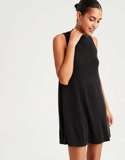Ae Mock Neck Open Back Dress by American Eagle Outfitters