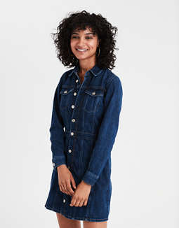 Ae Denim Shirt Dress by American Eagle Outfitters