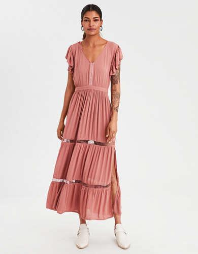 AE Flutter Sleeve Maxi Dress