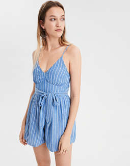 ae-stripe-tie-front-romper by american-eagle-outfitters