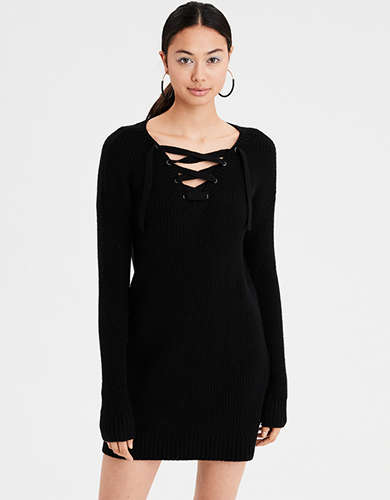 Cotton Sweater Dress American Eagle Outfitters