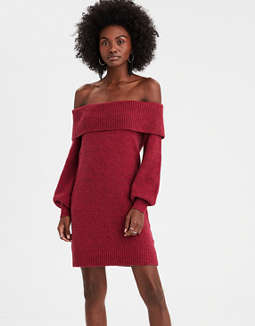 Ae Off The Shoulder Sweater Dress by American Eagle Outfitters
