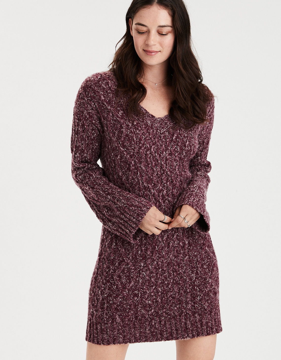 eb449ed5fd93 ... Cable Knit Sweater Dress. Placeholder image. Product Image