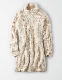 Ae Turtle Neck Cable Sweater Dress by American Eagle Outfitters