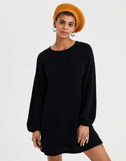 AE Balloon Sleeve Sweater Dress