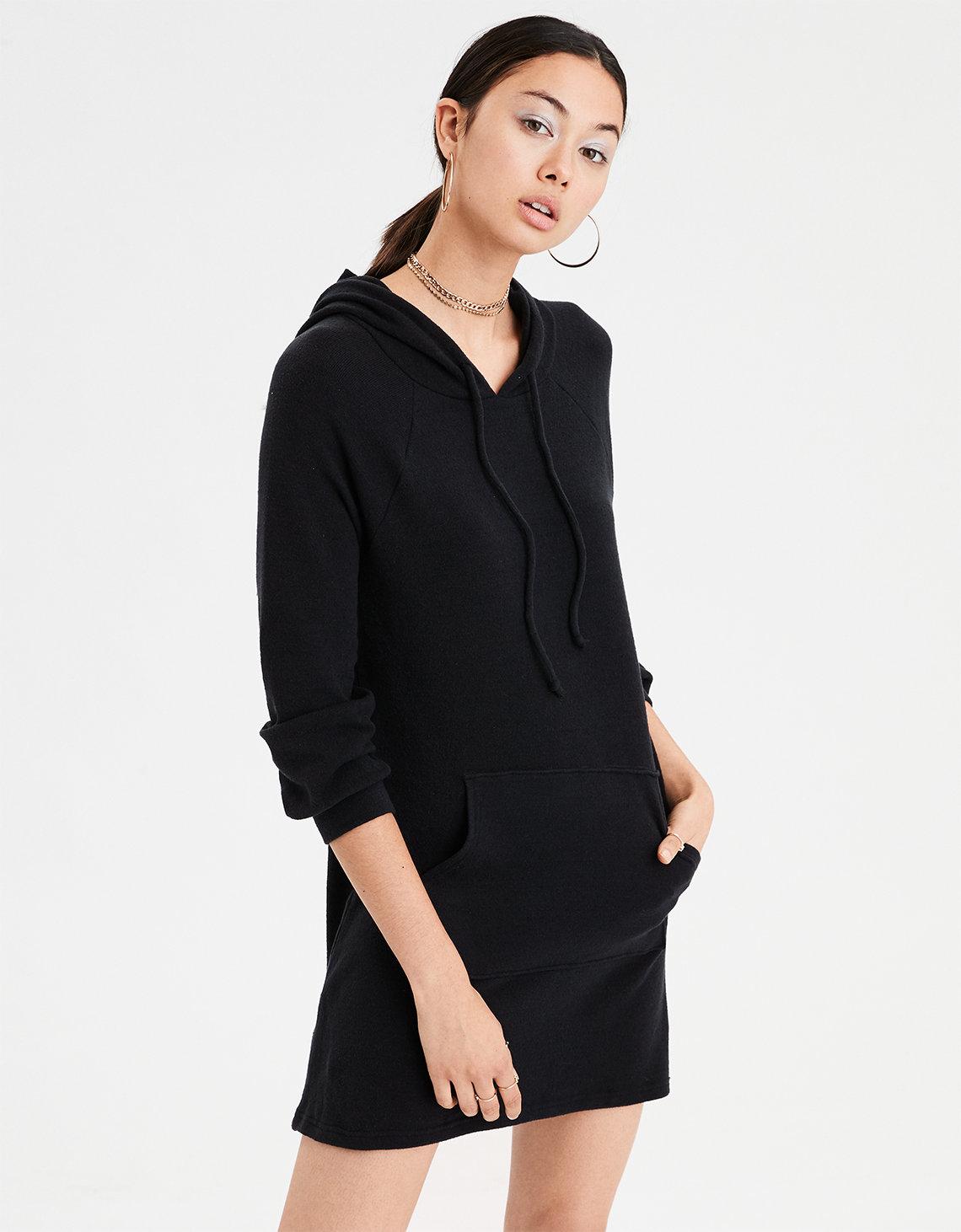 ea25ab449ebc AE Soft   Sexy Plush Hoodie Dress