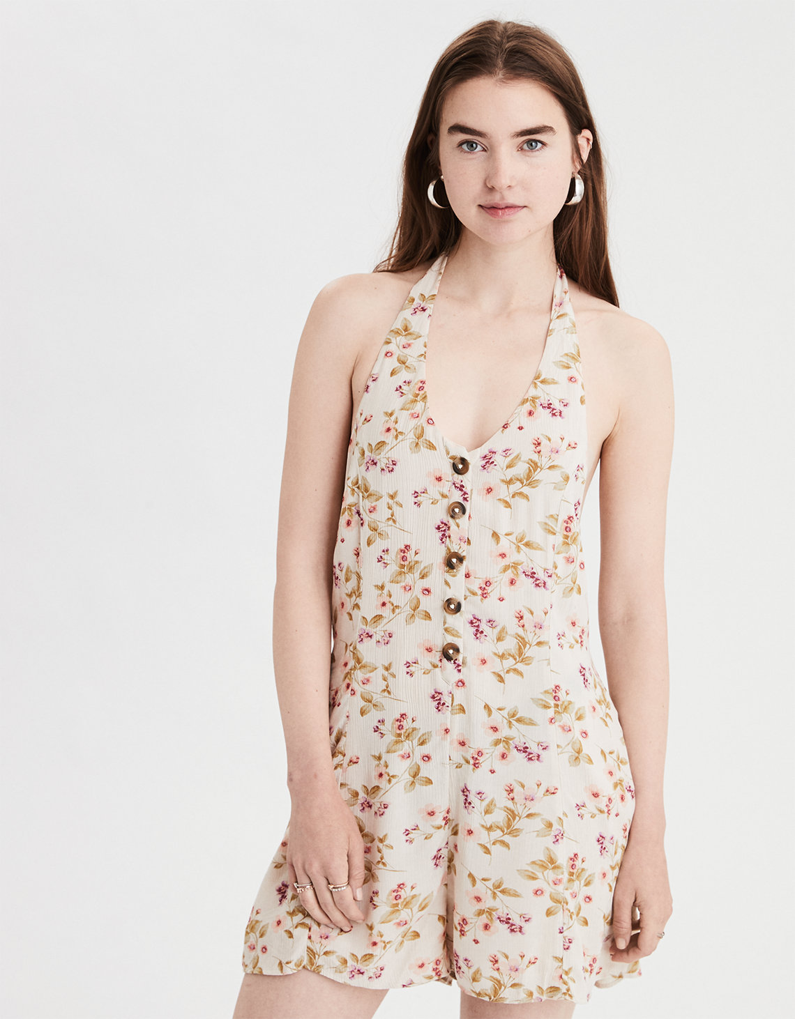 9ffedf850b2 AE Floral Halter Romper. Placeholder image. Product Image
