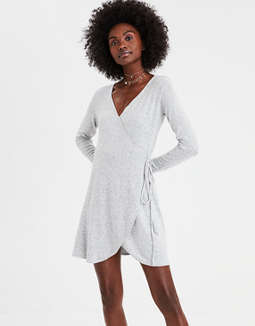 Ae Soft &Amp; Sexy Plush Wrap Dress by American Eagle Outfitters