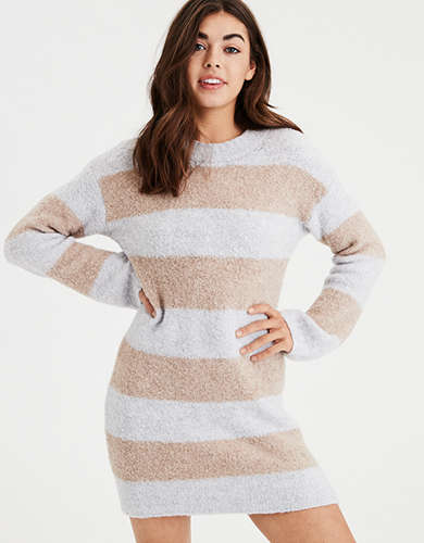 8430f5fa6d AE Rugby Stripe Sweater Dress