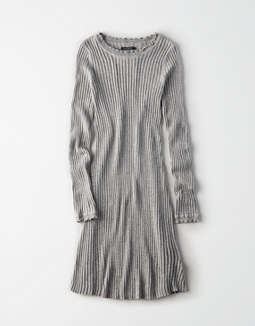Ae Fit And Flare Ribbed Sweater Dress by American Eagle Outfitters