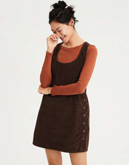 AE Side Button Corduroy Dress