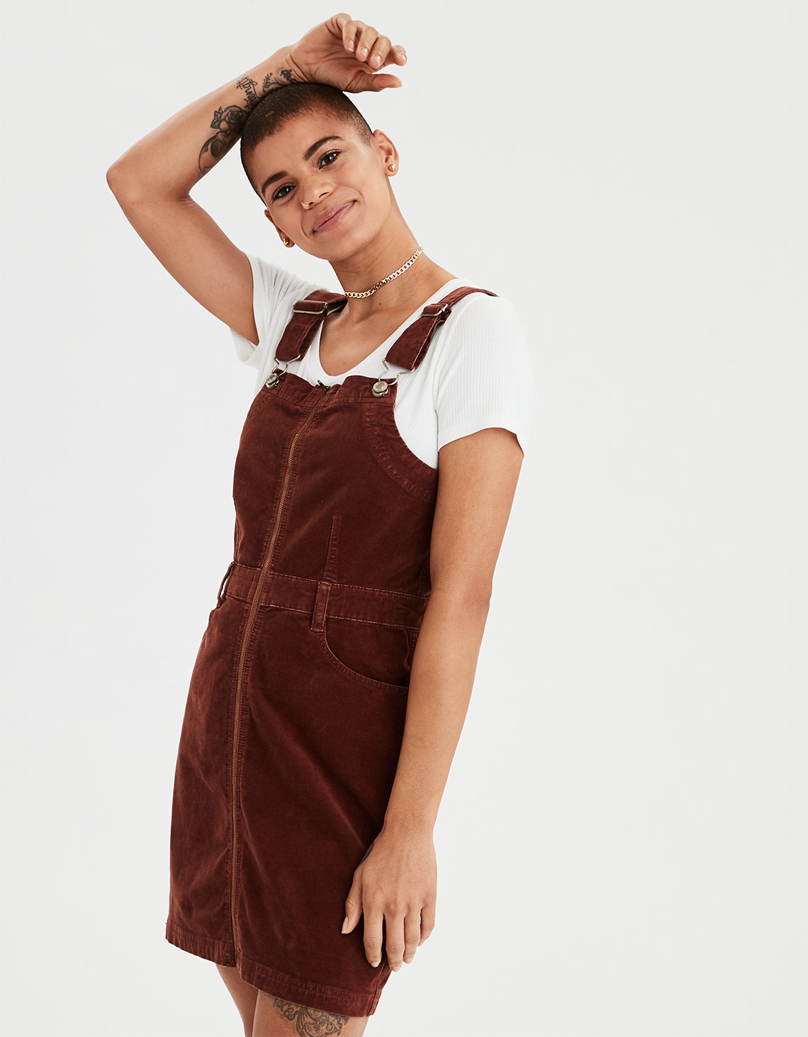 146891a5027c AE Corduroy Overall Dress. Placeholder image. Product Image