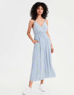 AE Striped Double Strap Jumpsuit