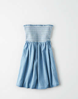 ae-denim-smocked-tube-dress by american-eagle-outfitters