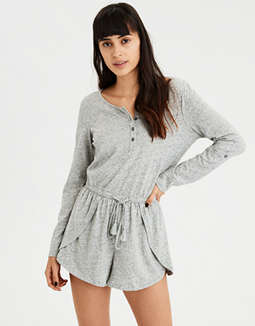 AE Long Sleeve Knit Romper