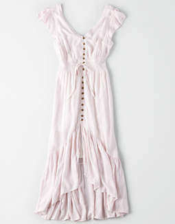 Ae Hi Low Striped Maxi Dress by American Eagle Outfitters