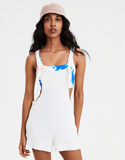 Ae Ribbed Sweater Romper by American Eagle Outfitters