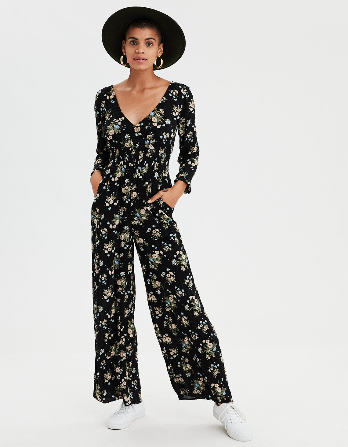 aa23f888478b AE Wrap Front Maxi Jumpsuit. Placeholder image. Product Image