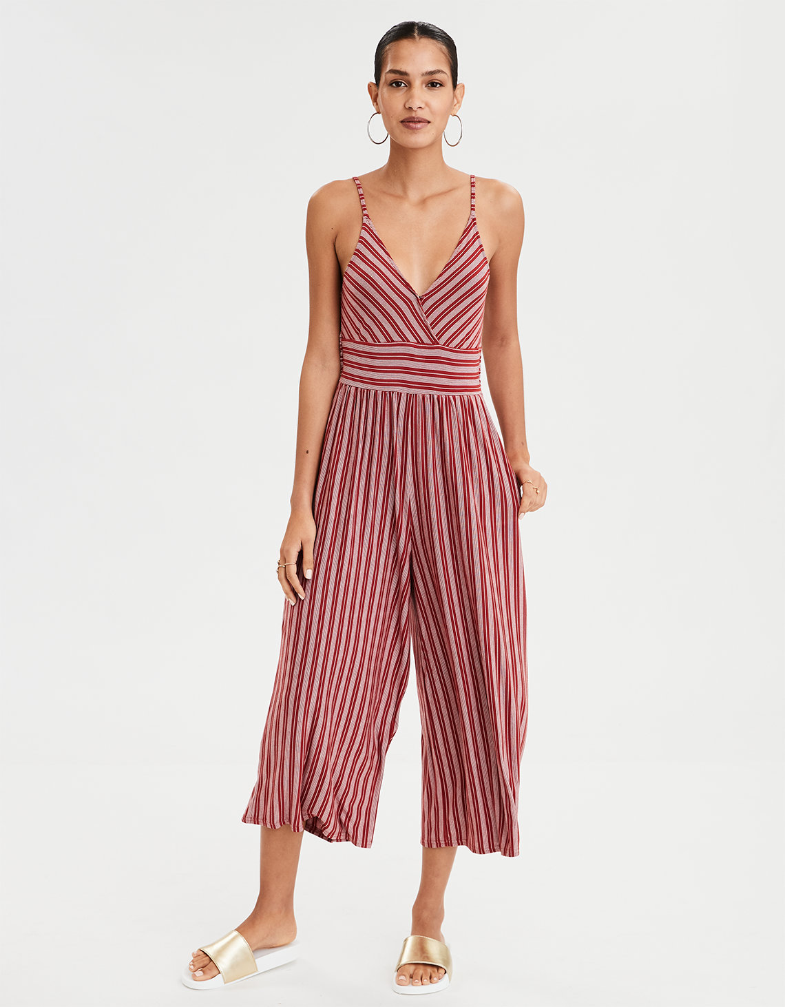 cefc1533f89 AE Striped Knit Jumpsuit. Placeholder image. Product Image