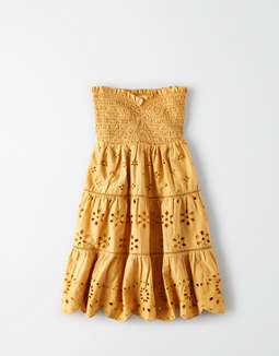 Ae Smocked Tube Dress by American Eagle Outfitters
