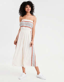 AE Embroidered Tube Jumpsuit