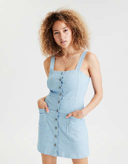 AE Button Front Utility Dress